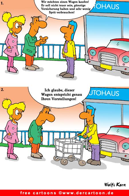 Autohaus Cartoon kostenlos  Autohaus Cartoo...