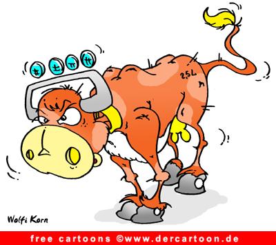 Kuh Sieben Cartoon  Kuh Sieben Cart...