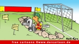 Fussballtor Cartoon - Fussball Cartoons free
