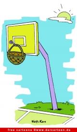 Basketball Cartoon gratis - Sport Cartooons zu Olympischen Spielen