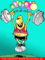 Sport Cartoon Schwerathletik kostenlos herunterladen