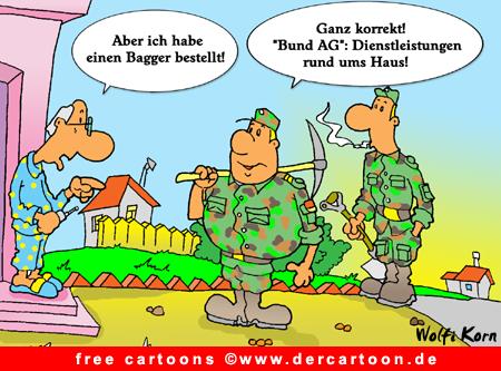 Bundeswehr Cartoon gratis - Lustige Bilder, Cartoons kostenlos