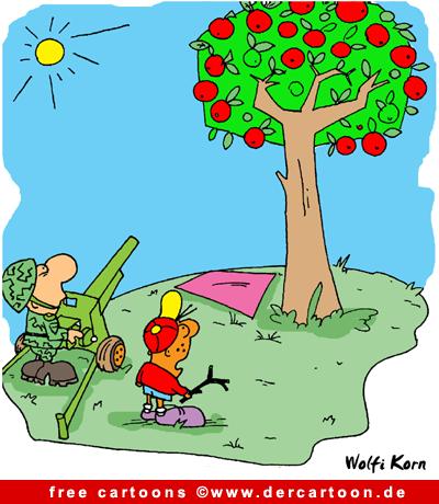 Kanone Cartoon-Bild free - Lustige Bilder, Cartoons kostenlos