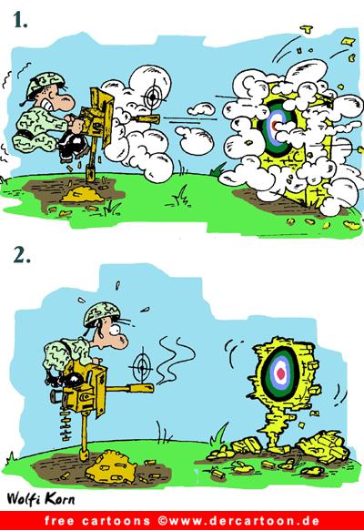Kostenlos Cartoon Scharfschütze - Lustige Bilder, Cartoons kostenlos