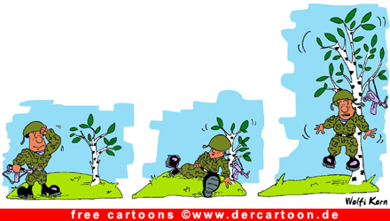 Soldat Comic - Lustige Bilder, Cartoons kostenlos