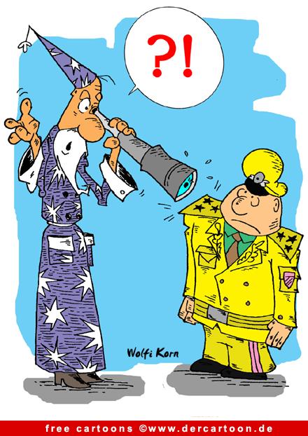 Sterngucker und General Cartoon - Lustige Bilder, Cartoons kostenlos