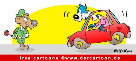 Autobahnpolizei Cartoon-Bild gratis - Lustige Bilder, Cartoons kostenlos