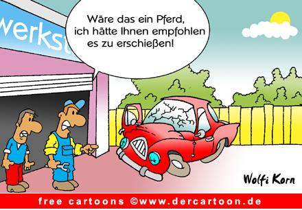 Autounfall Cartoon kostenlos - Lustige Bilder, Cartoons kostenlos