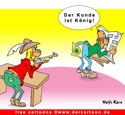 Kunde ist Koenig Cartoon kostenlos - Lustige Bilder, Cartoons kostenlos
