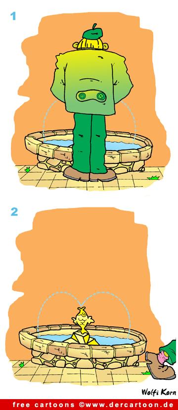 Brunnen Bild-Cartoon free - Lustige Bilder, Cartoons kostenlos