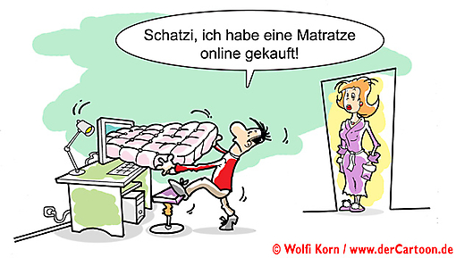 Cartoon Shopping im Internet - Lustige Bilder, Cartoons kostenlos