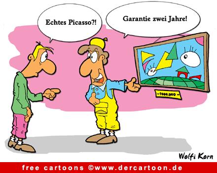 Gratis Cartoon - Echtes Picasso - Lustige Bilder, Cartoons kostenlos
