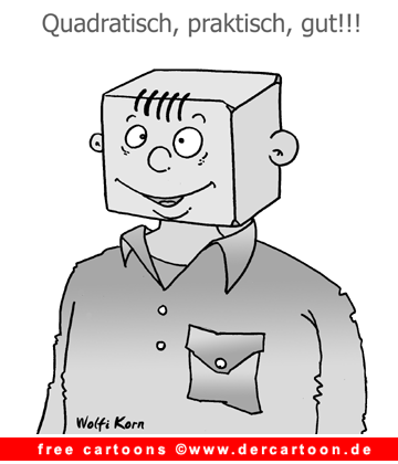 Gratis Cartoon quadratisch praktisch gut - Lustige Bilder, Cartoons kostenlos