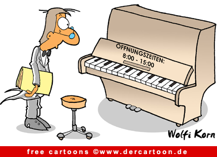 Klavier Cartoon - Musik Cartoons free - Lustige Bilder, Cartoons kostenlos