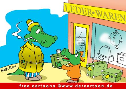 Krokodile Cartoon Bild gratis - Lustige Bilder, Cartoons kostenlos