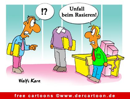 Unfall Cartoon - Cartoons fuer Buero - Lustige Bilder, Cartoons kostenlos