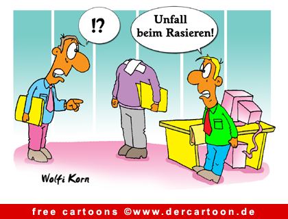 Unfall Cartoon Cartoons Fuer Buero