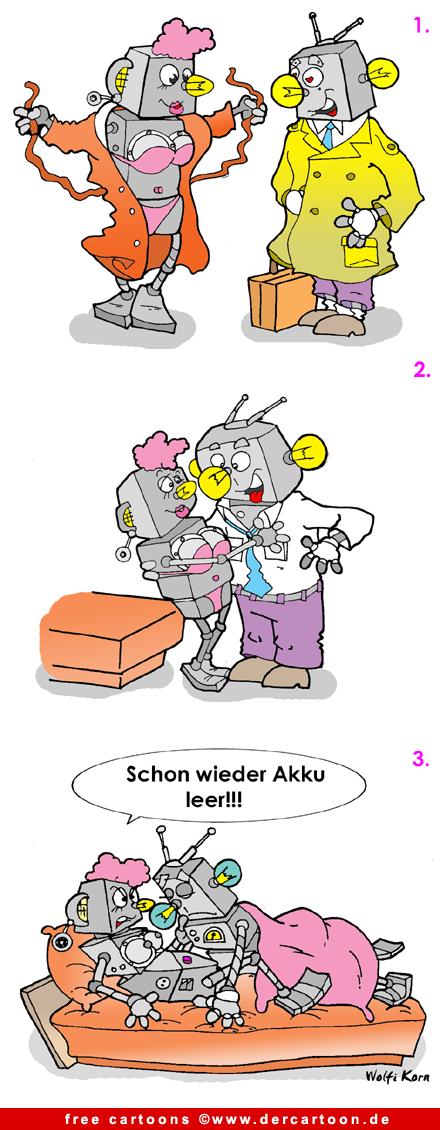 Roboter-Liebe Cartoon kostenlos  Roboter-Liebe C...