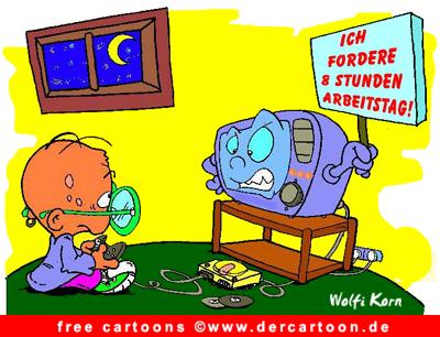 Cartoon Kind und Computer - kostenlose Cartoons online - Lustige Bilder, Cartoons kostenlos
