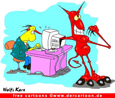 Teufel Cartoon kostenlos - Lustige Bilder, Cartoons kostenlos