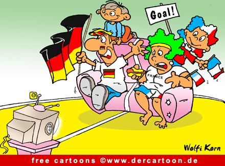 Fussballmeisterschaft Cartoon kostenlos - Lustige Bilder, Cartoons kostenlos