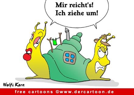Schnecken Cartoon kostenlos - Lustige Bilder, Cartoons kostenlos