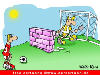 Fussball Cartoon gratis - Fussball Witz kostenlos - Lustige Bilder, Cartoons kostenlos
