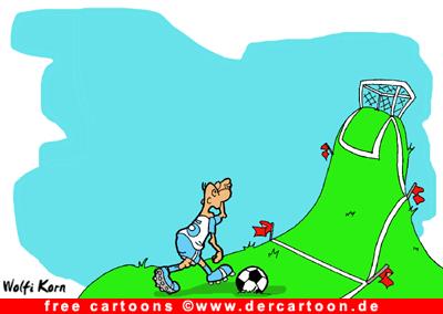 Fussball Cartoons gratis - Fussballwitz - Lustige Bilder, Cartoons kostenlos