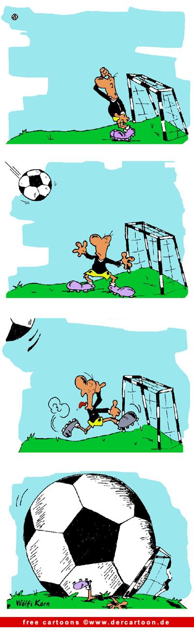 Fussball Comic gratis - Lustige Bilder, Cartoons kostenlos