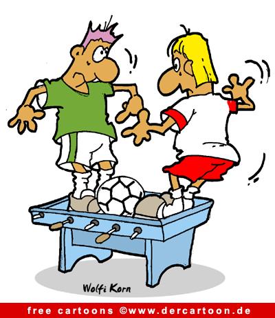 Fussball Karikatur kostenlos - Fussball Witze kostenlos - Lustige Bilder, Cartoons kostenlos