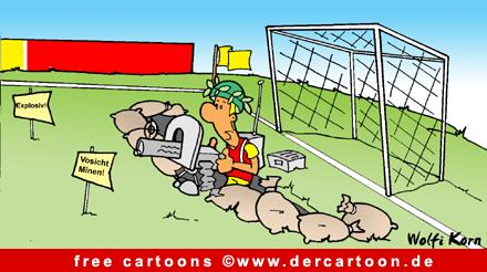 Fussballtor Cartoon - Fussball Cartoons free - Lustige Bilder, Cartoons kostenlos