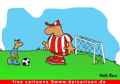 Soccer Cartoon kostenlos - Lustige Bilder, Cartoons kostenlos