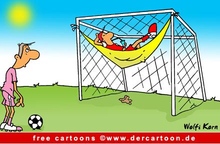 Torwart Cartoon free - Fussball WM Cartoon - Witze Fussball - Lustige Bilder, Cartoons kostenlos