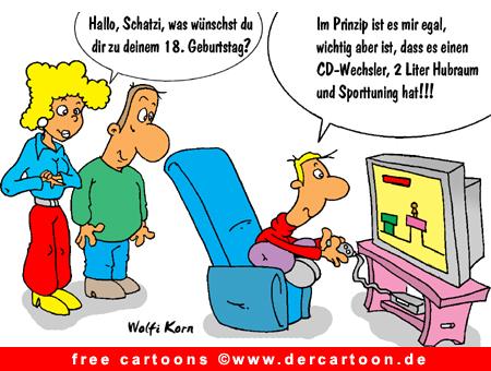 Geschenk zum Geburtstag Cartoon JPG - Lustige Bilder, Cartoons kostenlos