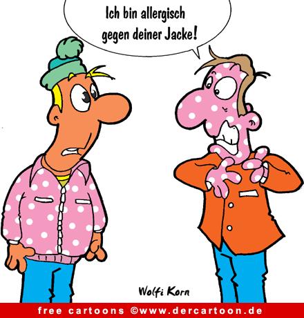 Allergie Cartoon-Bild free - Lustige Bilder, Cartoons kostenlos