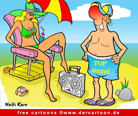 Topmodel in Bikini Cartoon free - Lustige Bilder, Cartoons kostenlos