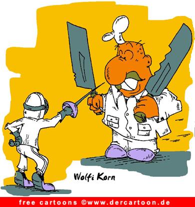 Gratis Sport Cartoon Fechten - Lustige Bilder, Cartoons kostenlos