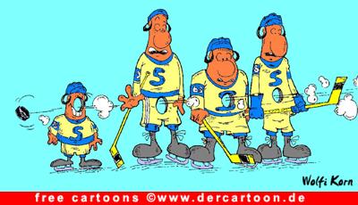 Hockey Cartoon kostenlos - Lustige Bilder, Cartoons kostenlos