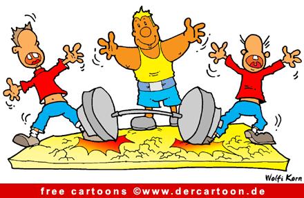 Schwerathletik - Sport Cartoon kostenlos - Lustige Bilder, Cartoons kostenlos
