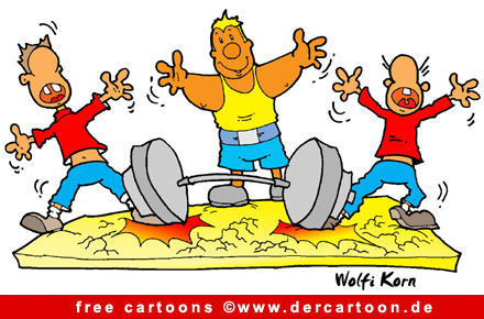 Schwerathletik Sport Karikatur free - Lustige Bilder, Cartoons kostenlos
