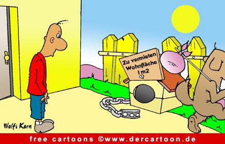 Hund Karikatur kostenlos - Lustige Bilder, Cartoons kostenlos