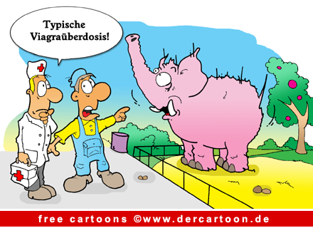 Zoo Cartoon - Viagra Ueberdosis - Lustige Bilder, Cartoons kostenlos