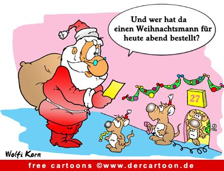 Weihnachtsmann Cartoon kostenlos - Lustige Bilder, Cartoons kostenlos