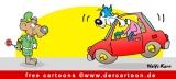 Autobahnpolizei Cartoon-Bild gratis