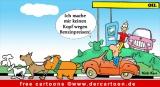 Benzinpreise - Energie Cartoon