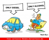 Diesel and alcohol Cartoon free