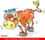 Kuh Sieben Cartoon