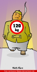 Cartoon free Mann 120 kg