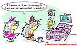 Cartoon Igel und Wasserbett