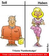 Familienbudget Cartoon free